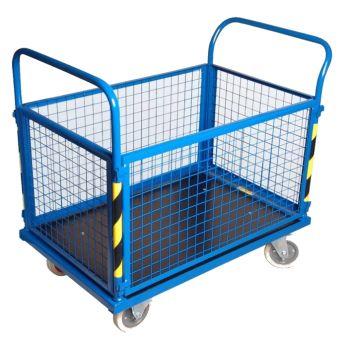 Wózek platformowy PR-WPR4 zabudowany siatką
